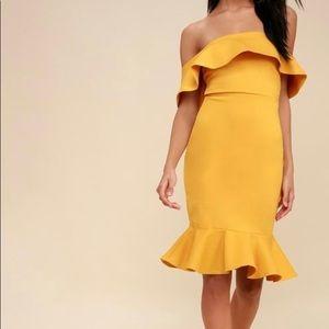 Lulu's Yellow Cocktail Dress